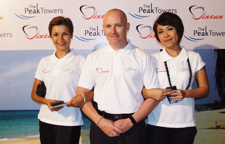 (L to R) Katerina Okisheva, Jason Yong and Chanyamol Khadhanakrit, all from Peak Towers.