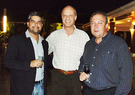 (L to R) Tony Malhotra director of Pattaya Mail; Philippe Delaloye, general manager of Pullman Pattaya Aisawan; and Rene Pisters, general manager of Thai Garden Resort.