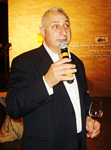 Peter Papanikitas, managing director of the Stonefish Australian wine label enthusiastically promotes the brand.