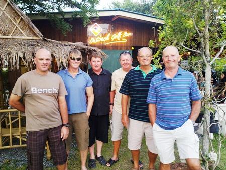 Plantation winners (from left): Andy, Jeff, Wayne, Tony, John & Bill.