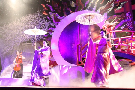 The pageantry is a big draw during the Miss International Queen pageant.