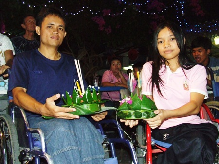 Celebrating traditional Loy Krathong at the Redemptorist Center.