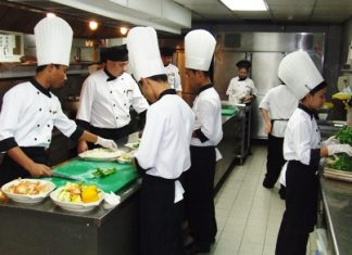 Four teenagers from one of Tracy's projects are taken in by Marriott Resort & Spa (Bangkok) Executive Chef Jai Krishnan Govindan, who for the last 3 months has been giving them a basic grounding in working in the kitchens of a world class hotel.