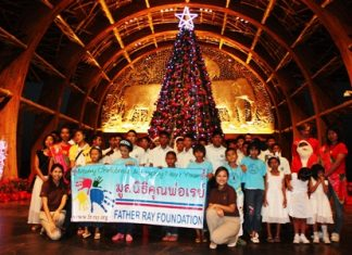 The Father Ray Foundation says Merry Christmas at the Centara Hotel and Resort.