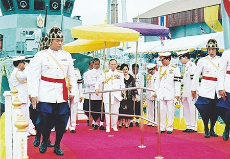 On April 30, 2007, in honor of his 80th birthday anniversary His Majesty the King graciously presided over the releasing ceremony for the Coast Guard patrol ship at the shipyard department in Bangkok Noi.