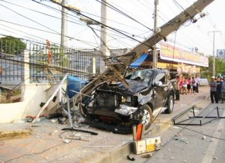 Chanin Kawinwanich was killed instantly when he lost control of his pickup and hit a power pole.