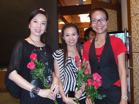 Pretty fans couldn't wait to give flowers to the singing sensations.