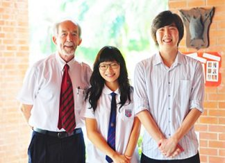A very proud Head of Mathematics John Mill with star student's Jisu Chae and Sang Ahn.