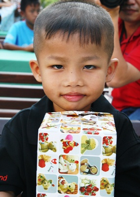 All the children were given a Christmas gift.