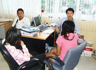 Police interview two of the underage girls allegedly being pimped to foreigners and local government officials.