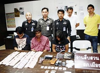 ex-Senior Sgt. Maj. Suthisak Klinkesorn and his wife and an accomplice have been charged with illegal possession of a gun and narcotics with intent to distribute.
