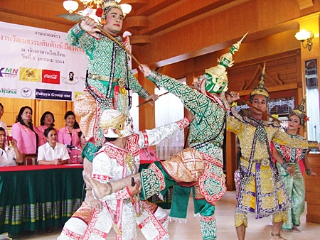 During the announcement, performers give the press, members of the Pattaya Cultural Council and the Lions a sample of what to expect at the upcoming show.