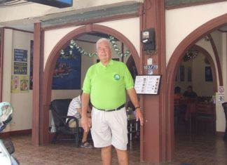 Arne Dahlin stands outside the Hasse Café on Soi Post Office, the new meeting point for the Players and Traveller golf tour group.