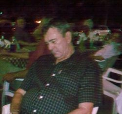 Monday's winner Bryan Rought enjoys an evening out with all the golfers at Siam Cats.