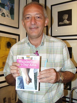 Author Hans Fritschi with his new book.