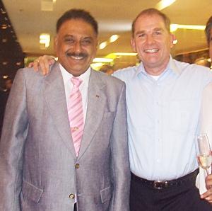Peter Malhotra with long time friend Robert J. Rijnders, senior vice-president operations Onyx Hospitality group.