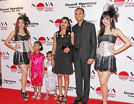 M.C. Samir, GM of Holiday Inn Bangkok and his family.