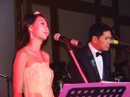 Mr. Paul & Ms. Som sing tunes from Les Miserables.