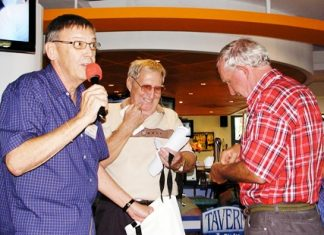 Member David updates us on activities for this week, while Hawaii Bob confirms member Tom's current card for the prize of a dinner for two.