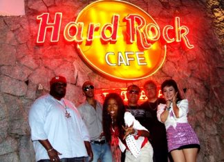 The Cross Color Band at Hard Rock Pattaya hotel.