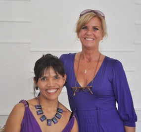Anaya Welland (left) from Hospitality and Anne-Marie Allen (right) from Special Events.