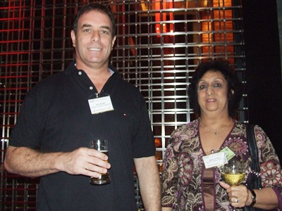 Ken Bright and Maria D. Silva of Bosch Chassis Systems pose for a photograph.