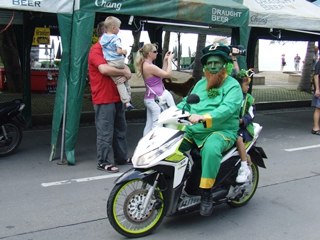 A leprechaun was spotted in the parade.