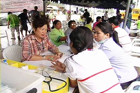 Health officials offered free medical services to members of the public.