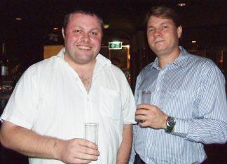 Are the glasses half empty or half full? Matt O'Sullivan and Alexander J. Hutton-Potts.
