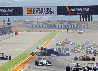 A pile-up on the opening lap of Race 1 on Saturday enabled Sandy to move through the field.
