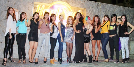 The 15 finalists line up following the preliminary selection round on May 21 at Hardrock Pattaya.