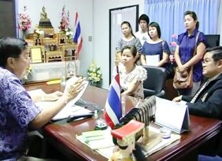 Chonburi province vice governor explains the situation to business owners.