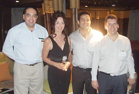Sponsors and organizers, (l-r) William (Bill) Dewell, F&B EAM of Centara Grand Mirage Beach Resort Pattaya, Raine Grady CEO of Capital TV, Sam Mizzi AustCham director and John Anderson, AusCham president.