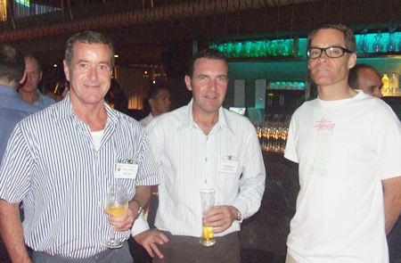 Peter Mewes (HBS Law), Paul Wilkinson (CEA) and William Brown, former AMCA Rider.