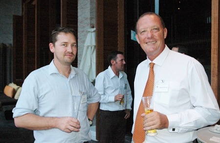 Mark Carroll, AustCham executive director and Stuart McKenzie, sales and engineering professional.