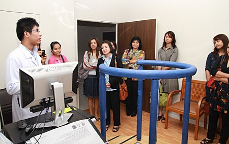 Bangkok Hospital Pattaya's ear, nose and throat specialists and guests visit the Ear, Nose & Throat Center.