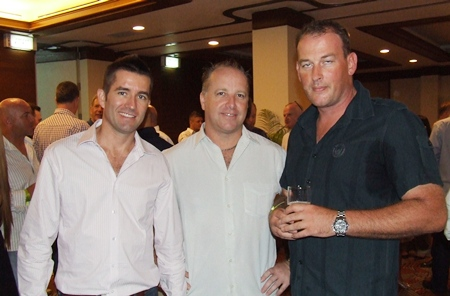 Zac, Jason McDonald (Advance One Stop Travel & Property) and Mark are living it up.