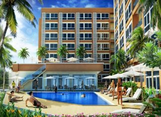 An artist's render shows the Bang Saray Beach Condominium project.