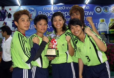 College of Saint Teresa won the women's takraw event.
