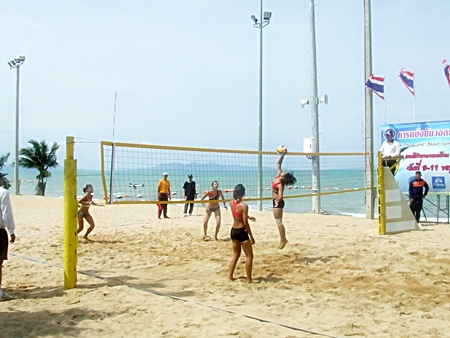 Women's beach volleyball forms one of the sports at this year's Air Sea Land Games.