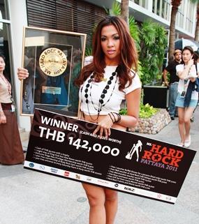 "Piyada ""Jamie"" Monmaneerat was crowned as ""Miss Hardrock Pattaya 2011""."