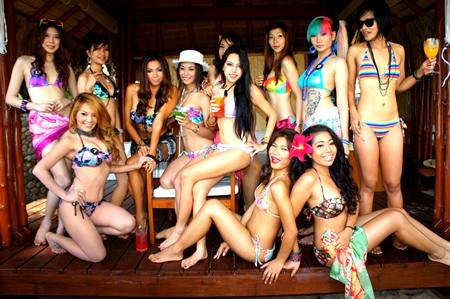 Swimwear was the order of the day for the final round of judging.