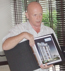 Sales Coordinator for Matrix, Frank O'Neil introduces The Vision condominium project.