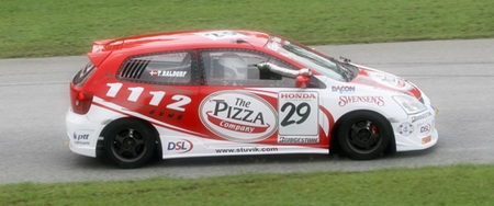 Thomas Raldorf in the Pizza Company Honda