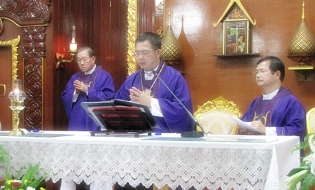 Bishop of Chantaburi Silvio Siripong Charatsri presided over the May 20 ceremony to remember Fr. Patin.