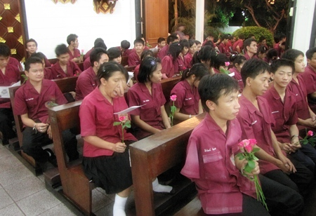 Many friends say a tearful goodbye.