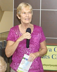 New to the microphone is member Pat Koester, to run the Open Forum of the PCEC meeting. In the Open Forum you may find solutions to the many questions that arise when living in the 'Land of Smiles'.