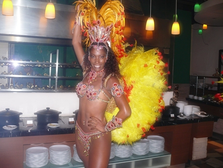 Samba dancers are anything but laid back at Zico's.