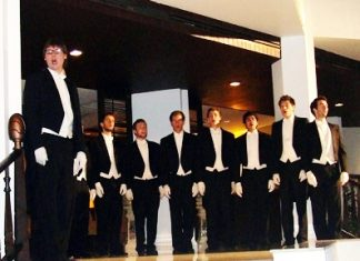 The magical Whiffenpoofs in concert at the Siam Bayshore Hotel & Spa, Saturday, June 25.