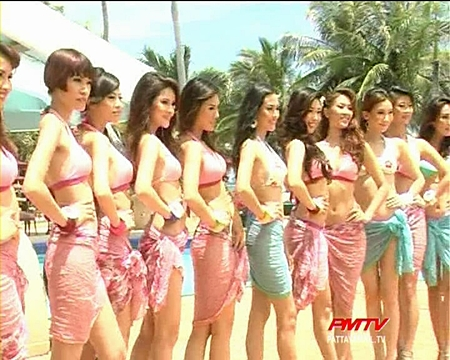 The stunning finalists pose for the cameras